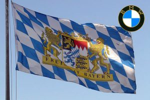 Bavarian Flag and Bmw Badge