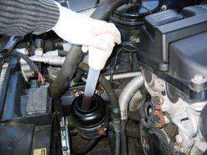 How to change power steering fluid