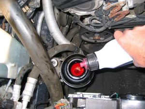 How to change power steering fluid