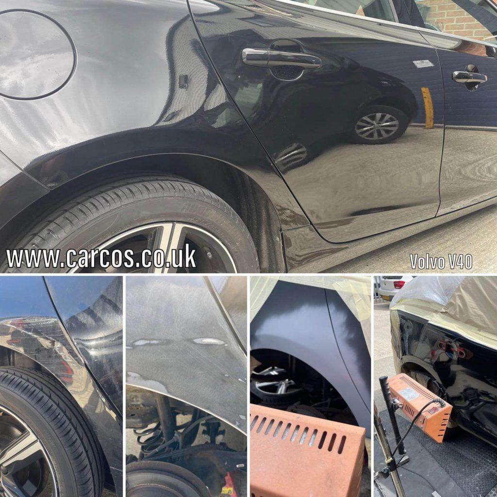 Onyx Black (717) Volvo V40. Dent repair