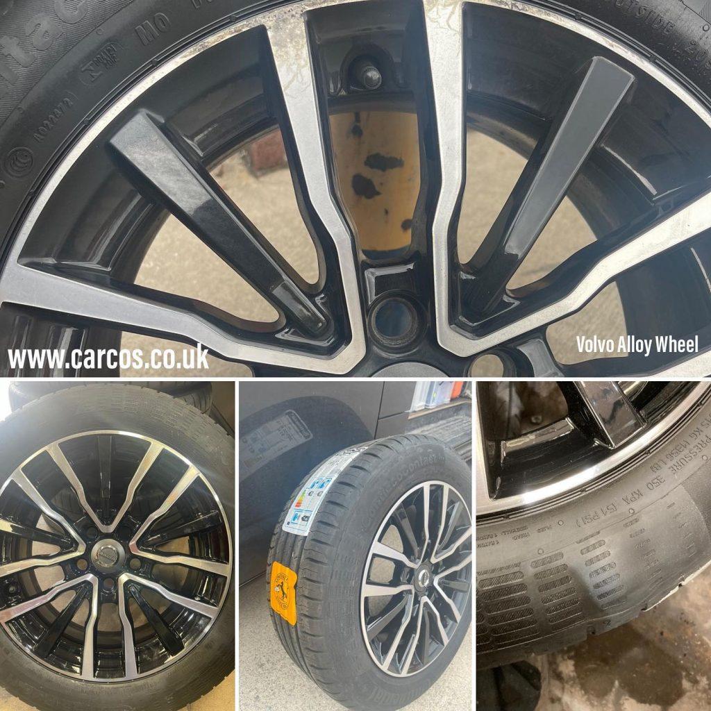 Volvo diamond cut alloy wheel refurbishment
