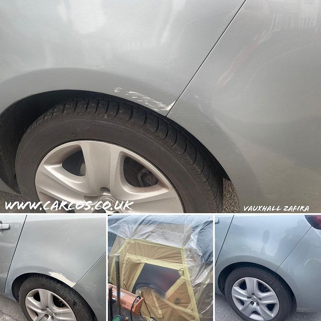 Silver Lake (179) Vauxhall Zafira scuff repair